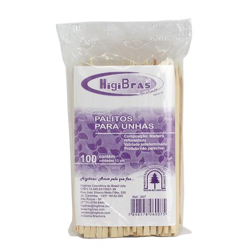Palito Cuticula Laranjeira c/100 Higibras - kit 10 pacotes (1000 palitos)
