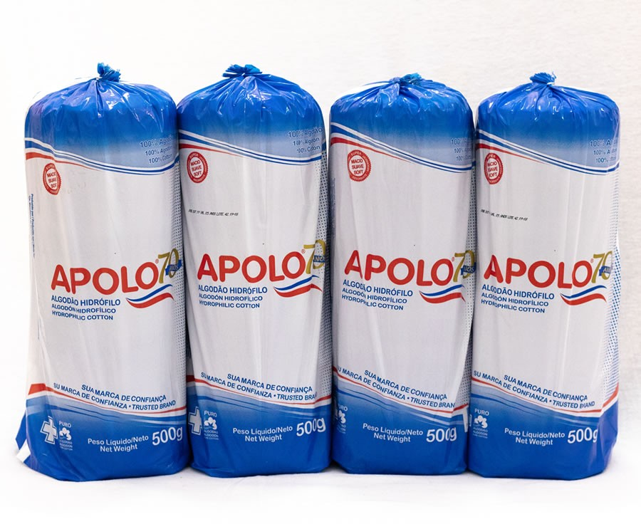 Algodão Apolo 500g - Kit 4 unid
