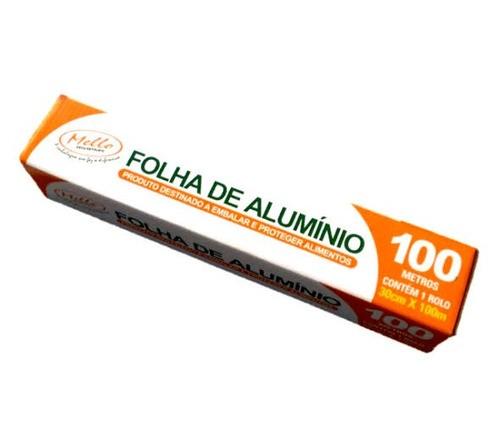Kit - Rolo de Alumínio Mello 30x100 - com 6 unidades