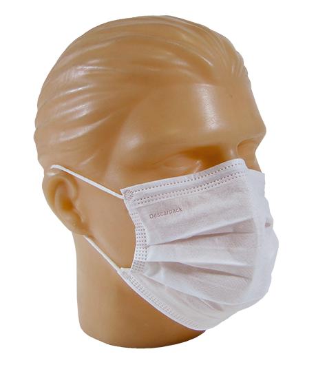 Máscara Tripla com Elástico e Clip  Nasal  c/50 unidades