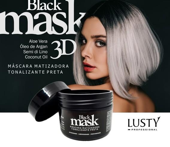 Máscara Matizadora Lusty 250g  (Tonalizante Preta)