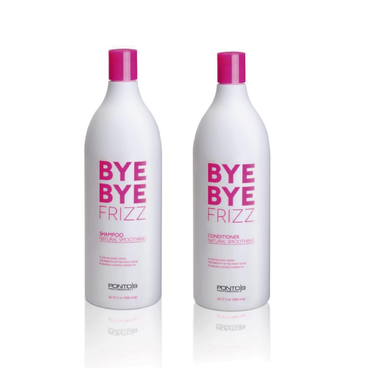 Shampoo e  Condicionador  Profis. Bye Bye Frizz 1L Ponto 9