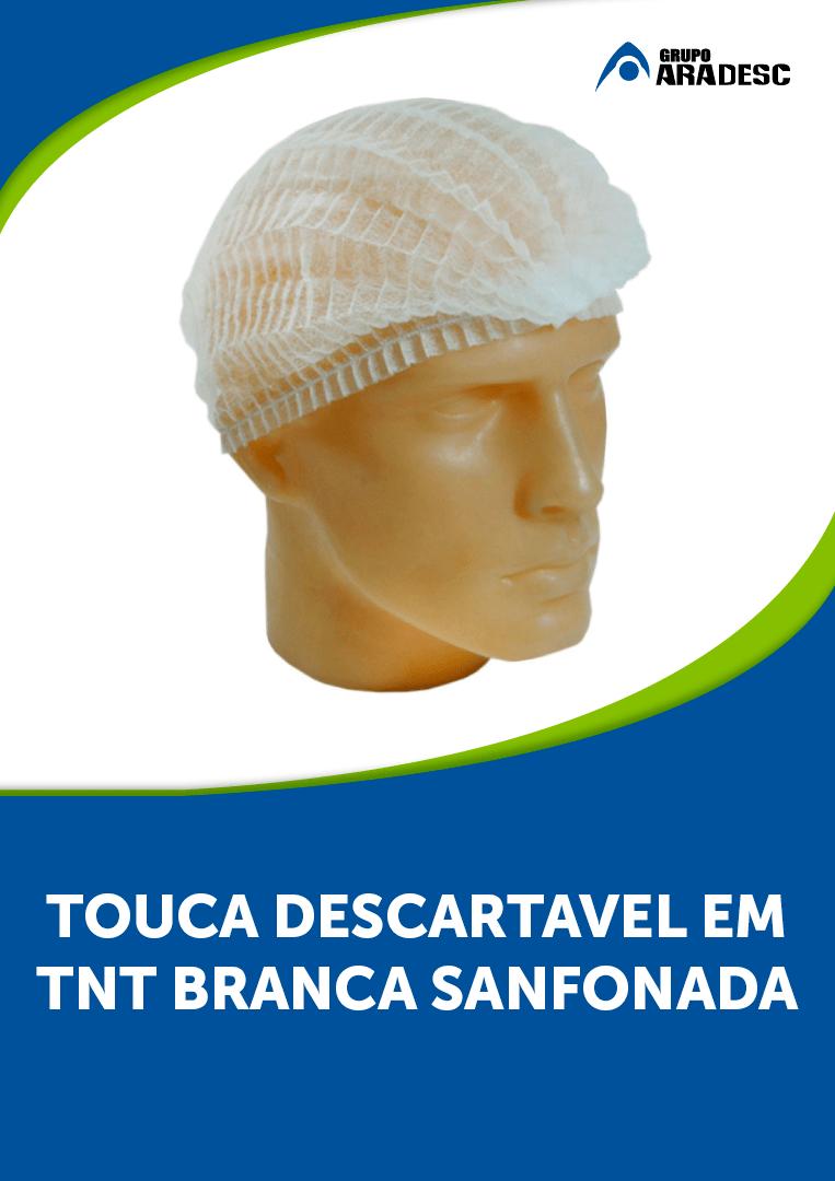 Touca Descartável TNT - Branca C/50 Unidades