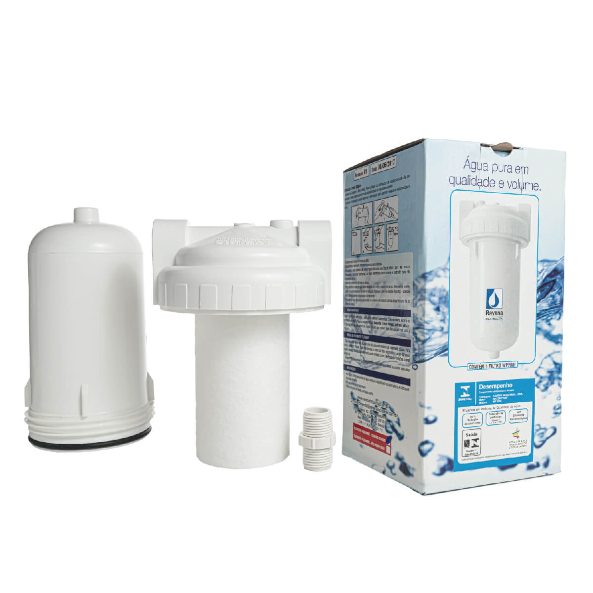 Filtro e Purificador de água Ravena WP 200F com elemento de polipropileno