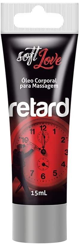 Gel de Massagem Íntima Efeito Retardante em Bisnaga Soft Love Retard - 15ml