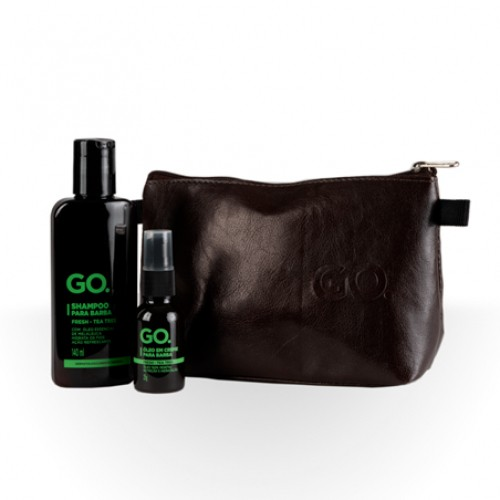 KIT GO. BARBA PREMIUM TEA TREE COM NECESSAIRE