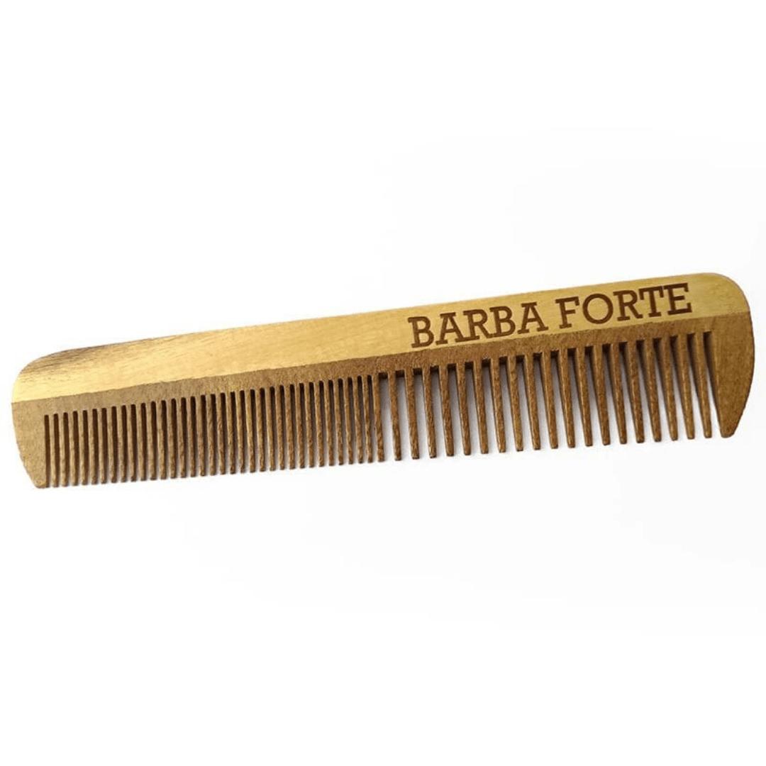 Pente em Madeira Artesanal Barba Forte PT004