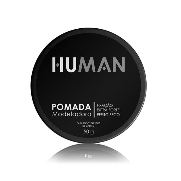 Pomada Modeladora Extra Forte Efeito Seco Human - 50g