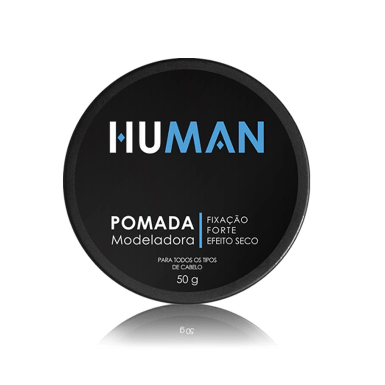 Pomada Modeladora Forte Efeito Seco Human 50g