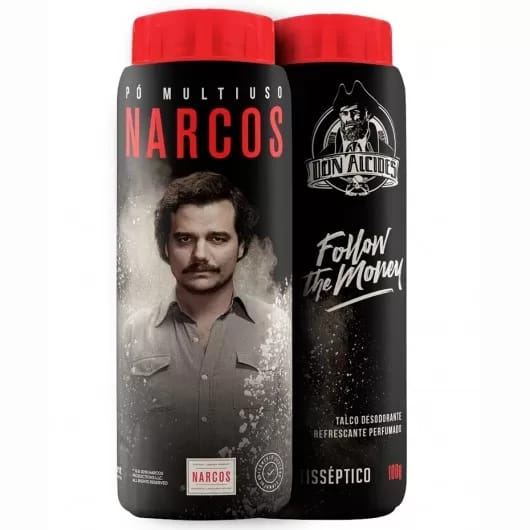 Talco Multiuso Narcos Antisséptico Refrescante 100g - Don Alcides