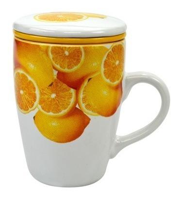 Caneca Com Infusor Limão Siciliano 330ml