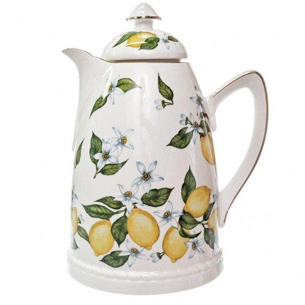 Garrafa Térmica Porcelana Limão Sicilianao.