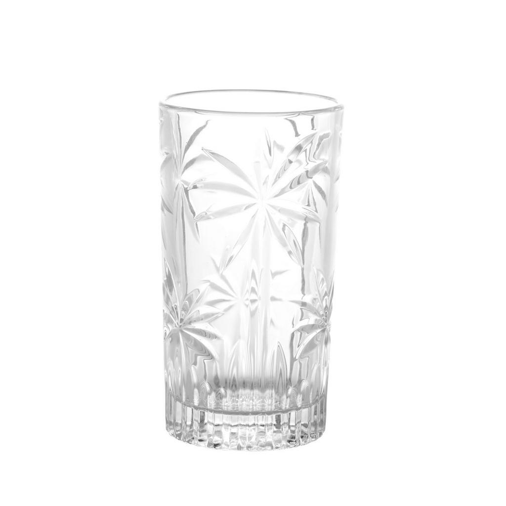 Jogo 06 Copos Cristal Palm Tree Claro