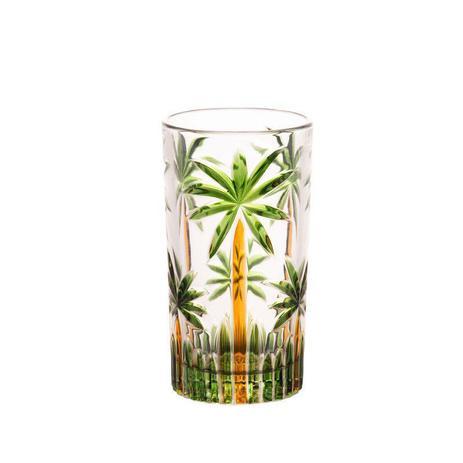 Jogo 06 Copos Cristal Palm Tree Verde