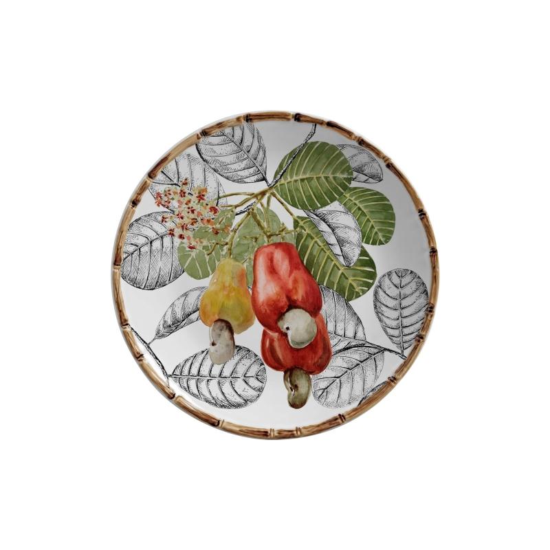 Jogo 06 Pratos Sobremesa Caju Frutti