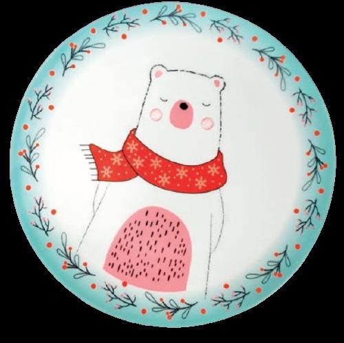 Pratos Sobremesa Urso Unidade