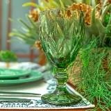 Jogo 06 Taças Água Verde