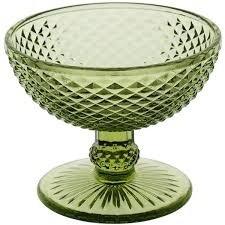 Jogo 06 Taças Sobremesa Bico de Jaca Verde