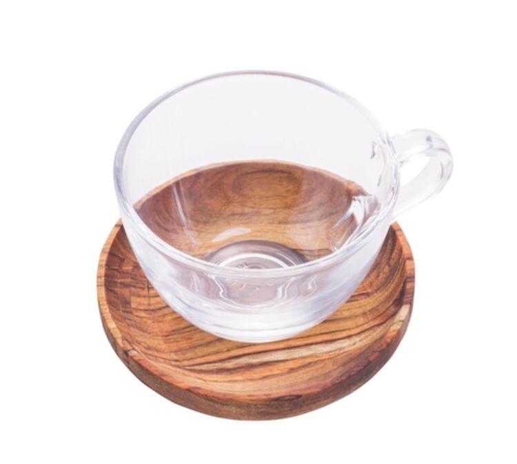 Jogo 06 Xícaras Chá Teca