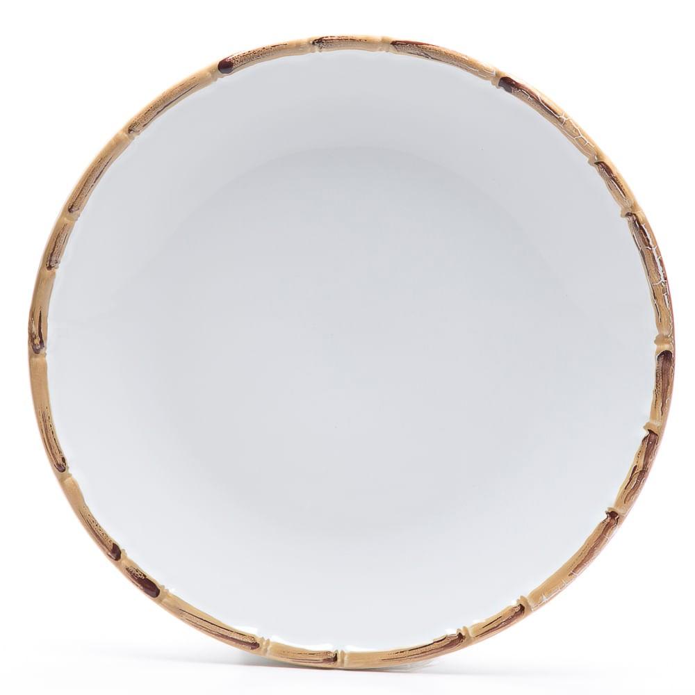 Jogo 6 Pratos Rasos Bambu