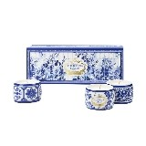 Kit 3 Mini Velas Em Porcelana Gold E Blu