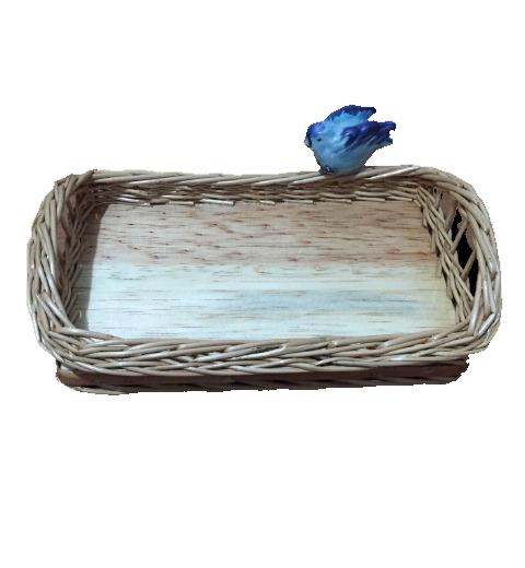Mini Baguete Natural Pássaro Azul