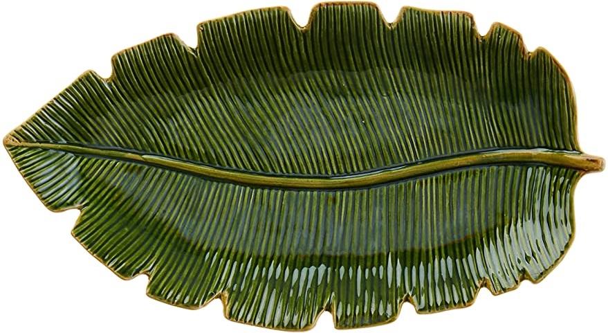 Prato Banana Leaf 29cm Unidade