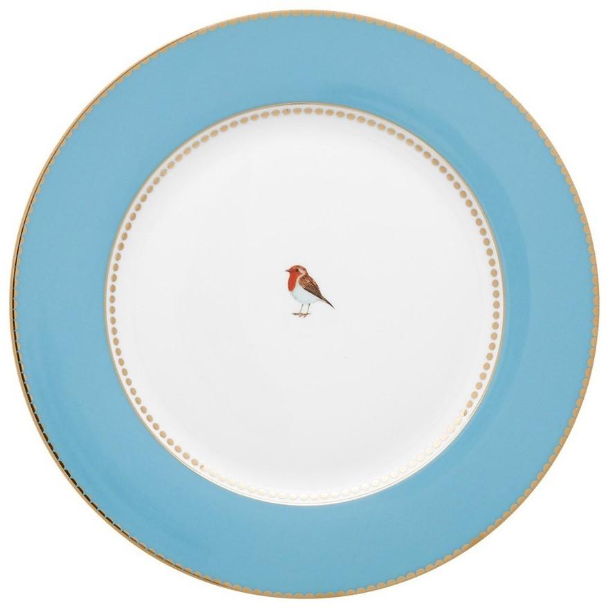 Prato Jantar Azul Love Birds Pip Studio