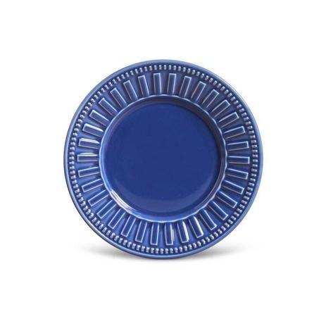 Prato Sobremesa Azul Navy Unidade