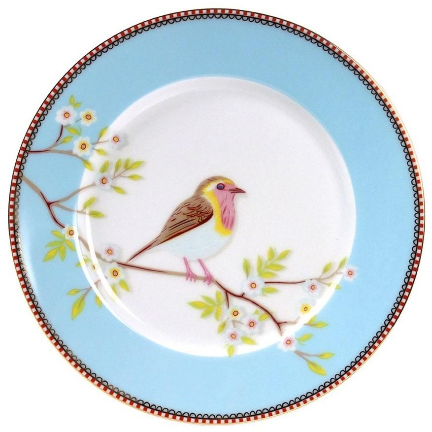 Prato Sobremesa Bird Azul Pip Studio Unidade