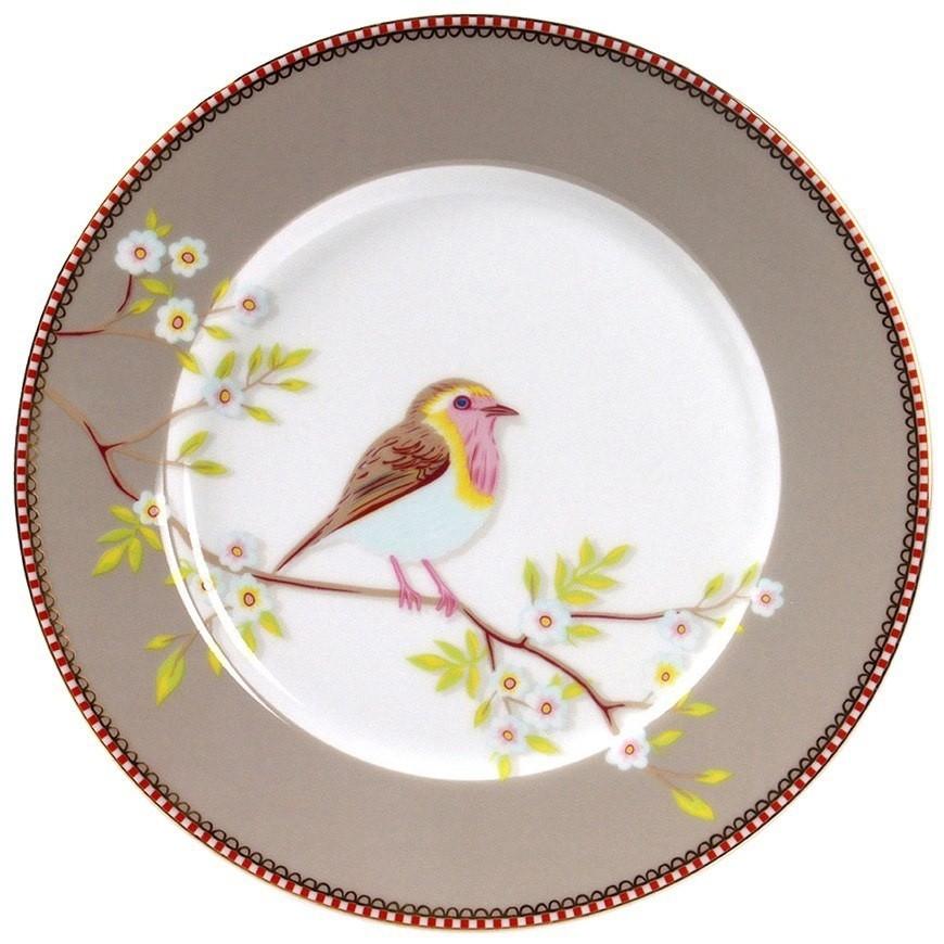 Prato Sobremesa Bird Caqui Pip Studio Unidade