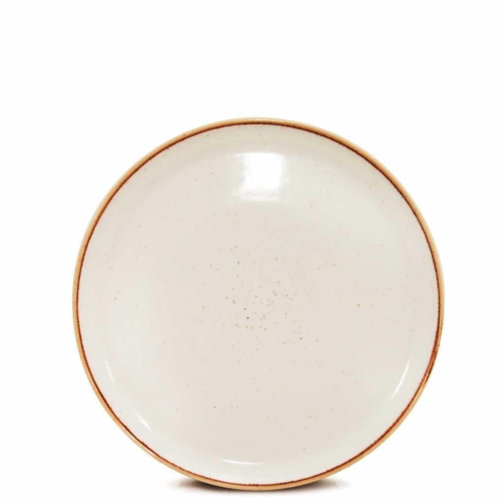 Prato Sobremesa Corona 24cm Branco Unidade