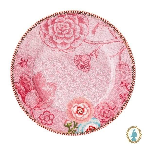 Prato de Sobremesa Rosa Pip Studio