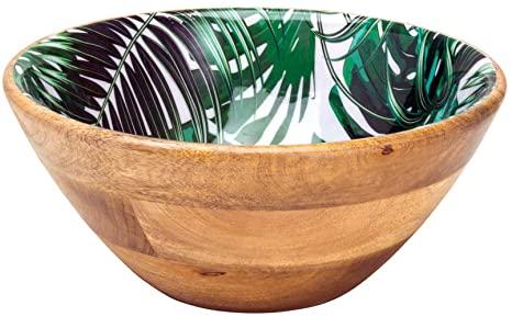Saladeira De Madeira Leafage