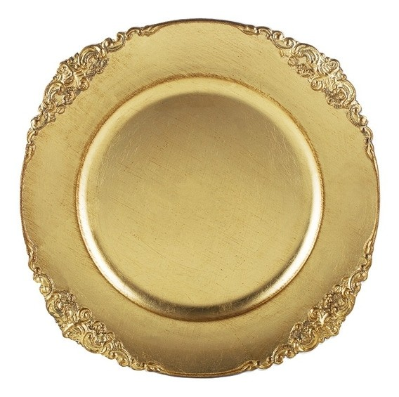 Sousplast Dourado Provencal 35cm