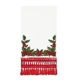 Toalha Lavabo Natal Vermelha