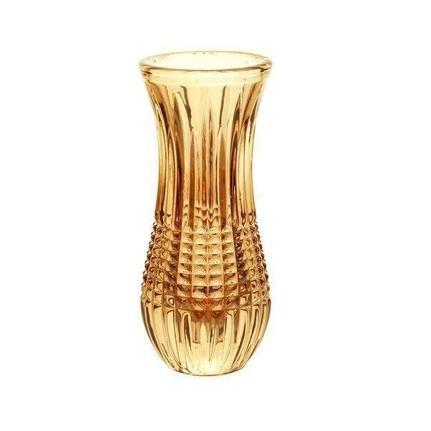 Vaso Cristal De Chumbo Queen Ambar