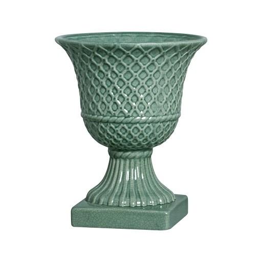Vaso Trilica Verde Folha Gg