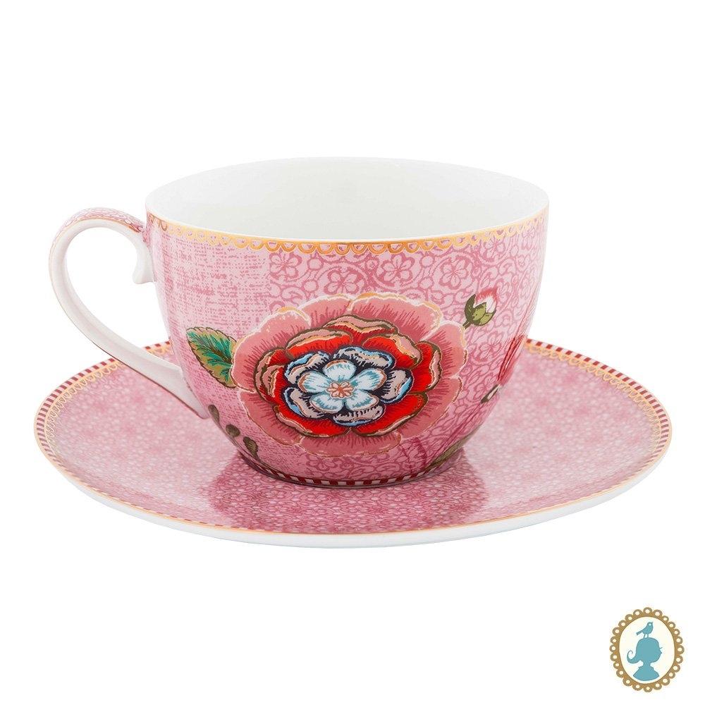 Xícara de Chá Rosa Unidade