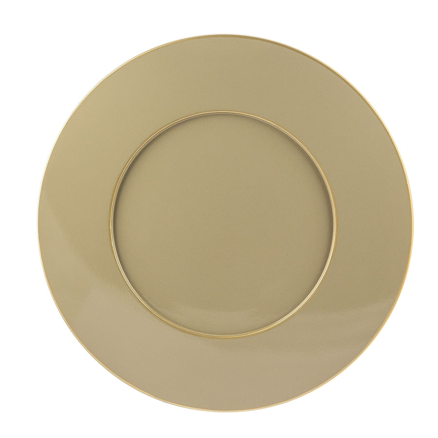 ZZZSousplat Fendi Com Filete Dourado