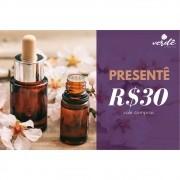 Cartão Presentê - R$30