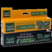 Kit 2 Cremes Dentais - Cúrcuma e Carvão Vegetal - Boni Natural