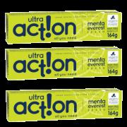 Kit com 3 Cremes Dentais Veganos Fresh - Menta Everest - Ultra Action