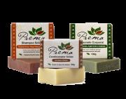 Kit Shampoo, Condicionador e Sabonete Sólidos - cabelos danificados - Prema