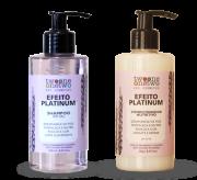 Kit Shampoo e Condicionador Vegano Efeito Platinum - Cabelos loiros e grisalhos - Twoone Onetwo