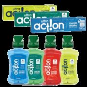 Monte o seu Kit Ultra Action com desconto - 3 pastas + 1 enxaguante