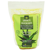Refil Sabonete Líquido Antibacteriano Vegano e Orgânico - rosto, corpo e íntimo - Livealoe