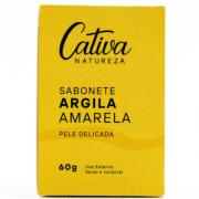 Sabonete Facial Argila Amarela - Pele Sensível - Cativa Natureza