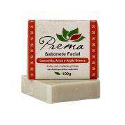 Sabonete Facial Camomila, Arroz e Argila Branca - todas as peles - Prema