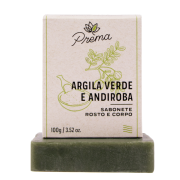 Sabonete Rosto e Corpo Argila Verde e Andiroba - peles mista ou oleosa - Prema